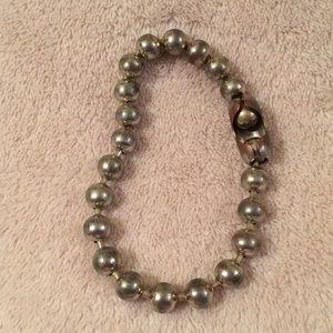 "Gigantic Silver Toned Ball Chain Bracelet 7"" NWT"
